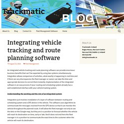 Integrating vehicle tracking and route planning software