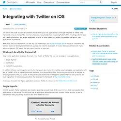 iOS Twitter framework