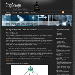 Blog, Integrating GNS3 and VirtualBox - DigiNinja