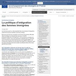 La politique d'intégration des femmes immigrées / Les femmes immigrées / Accueil et accompagnement