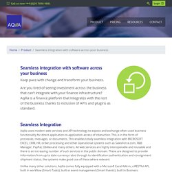Seamless integration across your business using Aqilla online accounting and finance's APIs and Plugins