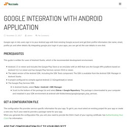 Google Sign-in Integration with Android Application