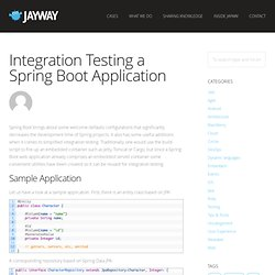 Integration Testing a Spring Boot Application