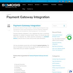 Payment Gateway Integration Archives - SEMIOSIS SOFTWARE PRIVATE LIMITED