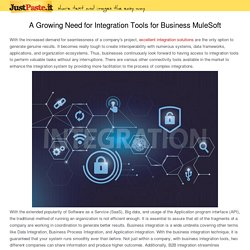 A Growing Need for Integration Tools for Business MuleSoft