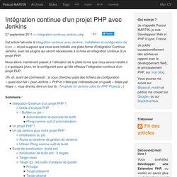 Intégration continue d'un projet PHP avec Jenkins — Pascal MARTIN: développement Web & PHP