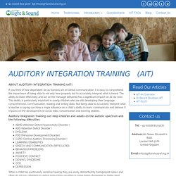 Auditory Integration Training - Autistic Spectrum & Other Difficulties