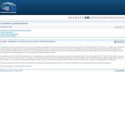 PARLEMENT EUROPEEN - Réponse à question E-000542-17 Intégration du chanvre dans les surfaces d'intérêt écologique