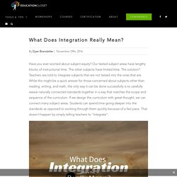 What Does Integration Really Mean?