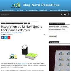 Intégration De La Nuki Smart Lock Dans Eedomus - Blog Nord-Domotique