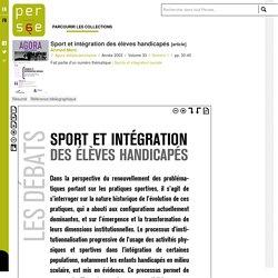 Sport et intégration des élèves handicapés