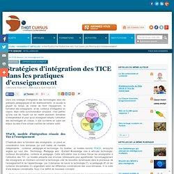 Stratégies d'intégration des TICE dans les pratiques d'enseignement