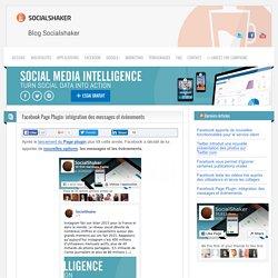 Facebook Page Plugin: intégration des messages et évènements