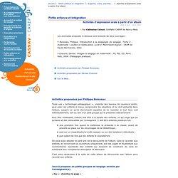 CASNAV-CAREP de Nancy-Metz-Petite enfance et intégration: activités d'expression orale à partir d'un album