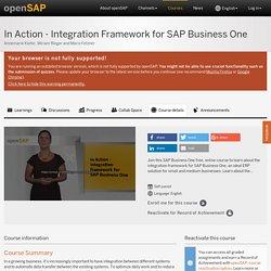In Action - Integration Framework for SAP Business One