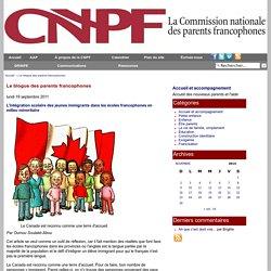 L'intégration scolaire des jeunes immigrants dans les écoles francophones en milieu minoritaire