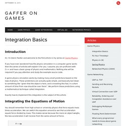 Game Development Tutorials – Game Physics – Integration Basics