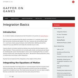 Game Development Tutorials – Game Physics – Integration Basics
