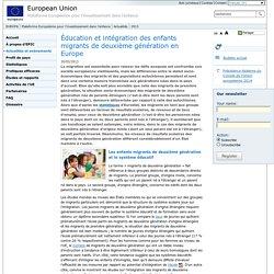 Éducation et intégration des enfants migrants de deuxième génération en Europe - European Platform for Investing in Children (EPIC) - European Union