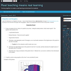 Real teaching means real learning: Integration and Geogebra