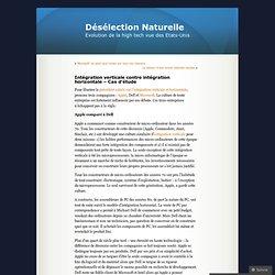 Intégration verticale contre intégration horizontale – Cas d'étude