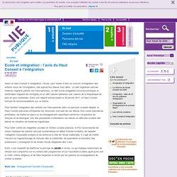 Haut conseil de l'intégration rapport : école, immigration, système éducatif. En bref - Actualités