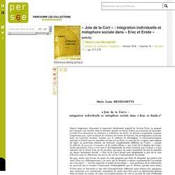 « Joie de la Cort » : intégration individuelle et métaphore sociale dans « Erec et Enide »