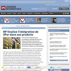 Stratégie de croissance - HP finalise l'intégration de 3Par dans ses produits