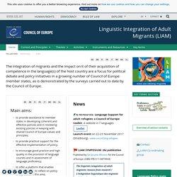 Page d'accueil Intégration linguistiques des migrants adultes