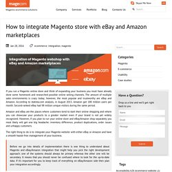 Integration of Magento store with eBay and Amazon