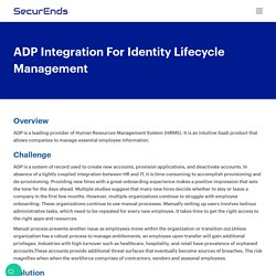 ADP Integration For Identity Lifecycle Management