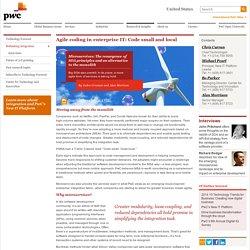 Technology Forecast: Rethinking integration: Microservices: The resurgence of SOA principles: PwC