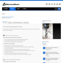 Automated Labeling Integration Software by Microvellum