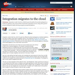 Integration migrates to the cloud | Software as Services