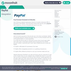PayPal Integration - Moonfruit - Total website design control