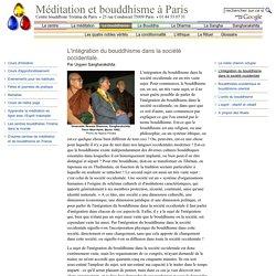 L'intégration du bouddhisme dans la société occidentale