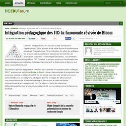 Intégration pédagogique des TIC: la Taxonomie révisée de Bloom
