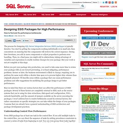 Developing Integration Services Packages for High Performance