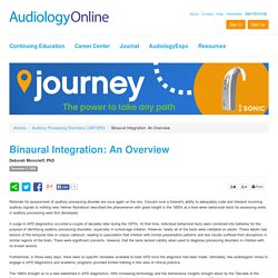 Binaural Integration: An Overview