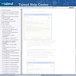 7.21 Configurer une règle de validation - Talend Enterprise Data Integration Studio Professional edition v5.1b - User Guide (FR)