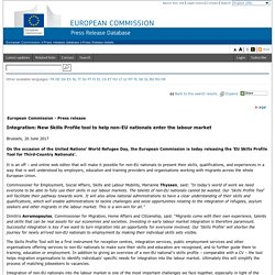 Integration: New Skills Profile tool to help non-EU nationals enter the labour market