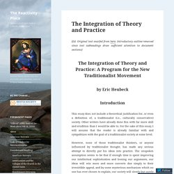 The Integration of Theory and Practice – The Reactivity Place