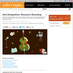 Arts Integration: Resource Roundup