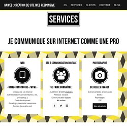Intégration responsive freelance SEO friendly : GAWEB