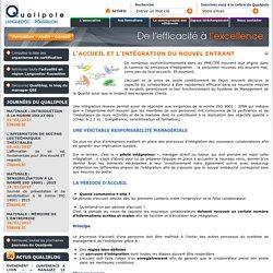 L'accueil et l'intégration du nouvel entrant - Qualipole Languedoc-Roussillon