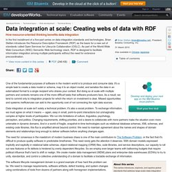 Data integration at scale: Creating webs of data with RDF