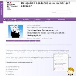 L'intégration des ressources numériques dans la scénarisation pédagogique