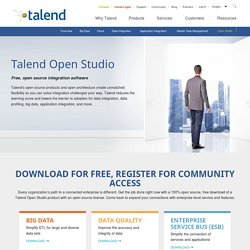 Open Studio Integration Software Platform