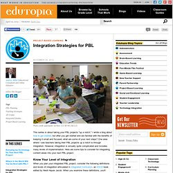 Integration Strategies for PBL