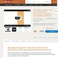 eBay/Amazon/Rakuten/PLAY.COM Magento Integration - Order Importing and Stock Level Synchronization